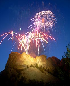 Fireworks Above Mt. Rushmore
